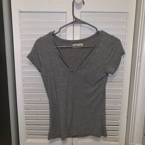 tight fitting gray top from holister